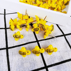 100 pcs lot Bees Push Pins Decorative Thumb Tacks Colorful for Feature Wall, Whiteboard, Corkboard, Photo Wall