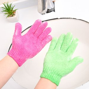 Exfoliating Wash Gloves Skin Body Bathing Mittens Scrub Massage Spa Bath Finger Gloves C4861