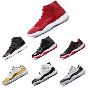 Wholesale Basketball Shoes 11 Men Women High Prom night Gym Red Midnight Navy Metallic Gold Low Concord Bred Varsity Red Barons Sneakers
