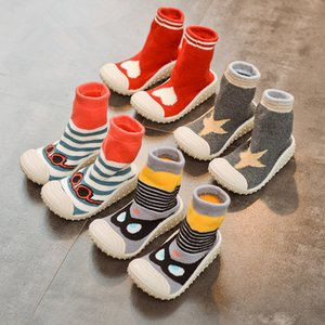 Wholesale walk for baby for sale - Group buy Newborn Baby Shoes Toddler Kids First Walk Prewalker Infant Knitted Woolen Sock Shoes Soft And Comfortable Rubber Outsole For Baby Sneakers