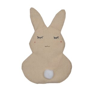 Wholesale Kids Easter Linen Rabbit DIY Garden Flag Indoor Outdoor Home Decor DIY Blank Bunny Flag for Easter Garden Decorations