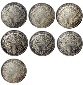 US 1798 -1804 7pcs Draped Bust Dollar Heraldic Eagle Silver Plated Copy Coins metal craft dies manufacturing factory Price