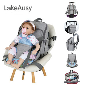 2018 Trendy Diaper bag Mommy Backpack with Changing pad Nappy Tote Bags Stroller straps USB charge Large capacity Multifunction Free DHL on Sale