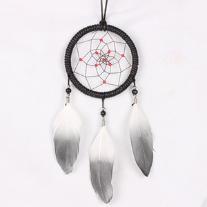 Wholesale Car Pendant Feather Indian Style Dream Catcher Art Craft Home Ornament Auto Rearview Mirror Hanging Decoration Accessory Gifts