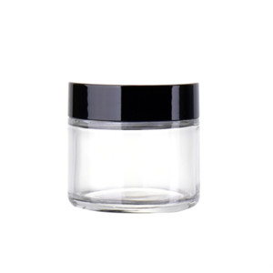 60ml Clear Glass Cosmetic Jar Pot - 60g Skin Care Cream Refillable Bottle Cosmetic Container Makeup Tool For Travel Packing