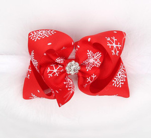 Wholesale Christmas Baby Girls Bow Feather Headband Party Xmas Toddler Infant Kids Hair Band Headwear Hair Accessories hair hoop presents