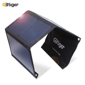 Wholesale W Solar Panel Foldable Solar Charger Dual USB Waterproof Foldable Emergency Bag for phone tablet MP3 MP4