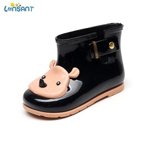 Wholesale LONSANT Children s Rubber Boots Kids Boots PVC Baby Girls Jelly Cute Bowknot Rain Shoes Waterproof Buckle Ankle N30