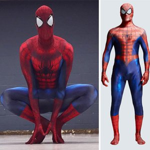 3D digital printing spiderman costume onesie tights cosplay playing clothes adults and kids halloween costumes Christmas cosplay costume