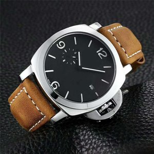 Wholesale Brand Limited Edition PVD Black Carbon Fiber Case LAB ID Black Dial Quartz Mens Watch Leather Strap Luxury Gents Watches
