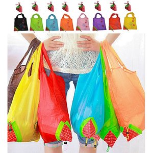 Wholesale 8 Mixture Color Reusable Shopping Bags Foldable Tote Eco Grab Bag with Handles Grocery Shopping Bags