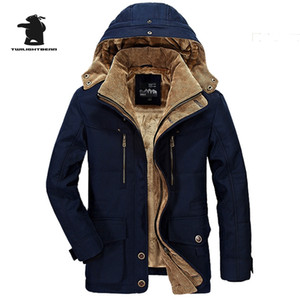 Desinger Men's Parkas New Fashion High Quality Fleece Thicken Casual Winter Jacket Men Warm Overcoat Plus Size 6xl Outwear CF029