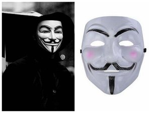 Wholesale V For Vendetta Mask Halloween Horror Movie Theme Mask V For Vendetta V Face Masquerede Custume Mask Cheap