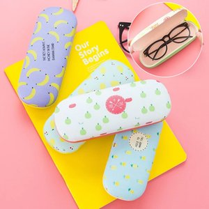 Wholesale eye korean resale online - Korean Candy Color Fruit Sunglasses PU Hard Eye Glasses Case Myopic Mirror Student Frame Eyewear Protector Box Sunglasses Collection Box