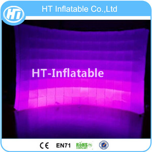 Free Shipping 9.8ft*7.8ft Colorful LED Lighting Advertising Inflatable Photo Booth Wall LED Lights Photo Booth Backdrop