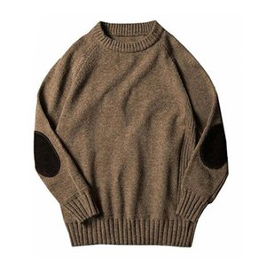 Wholesale Gresanhevic New Mens Classic Boyfriend Solid Crew Neck Knitted Thick Pullover Sweaters