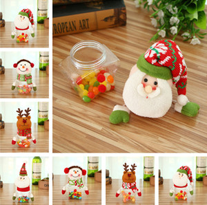 Wholesale Christmas decorations creative Christmas candy jar kindergarten children the candy bags gift cans T1I814