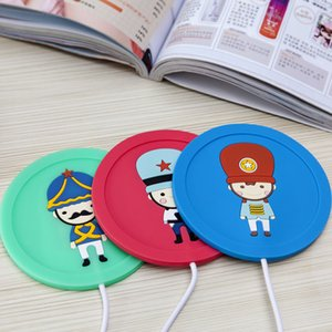 Wholesale Cartoon Silicone Electric Insulation Coaster USB Warm Cup Heating Device Office Coffee Tea Warmer Pad Mat