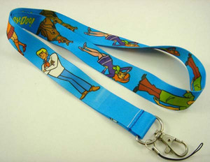 20pcs NEW Scooby Doo Blue Neck Lanyard Strap Cell Mobile Phone ID Card Key chain
