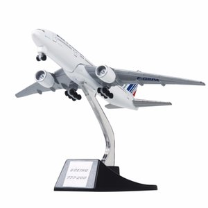 Wholesale New cm Metal Aircraft Plane Model Air France B777 Airways Boeing Airlines Airplane Model With Wheels Stand Kids Gift