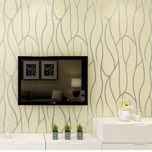 Wholesale Modern 3D Embossing Deerskin line 3D Flocking Wall paper For Bedroom Living Room Home Decoration 3D WallPaper roll