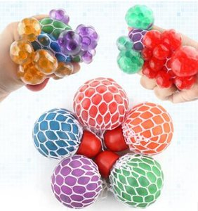 Wholesale 48pcs Decompression grape ball cm Cute Anti Stress Face Reliever Grape Ball Autism Mood Squeeze Relief Toy Funny Gadget Vent Wa WJ