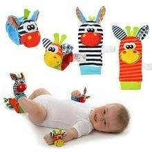 wholesales Baby Infant Developmental Wrist Strap Foot Socks Rattle Bug Finders Toy