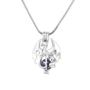16.High Quality Silver Plated Pearl Cage Pendant Fashion Dragon Gift For Firends Jewelry Wholesale P195