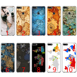 Wholesale World Map Travel Plans Soft Silicone Phone Case for Huawei P8 P9 Lite P10 Lite P Smart