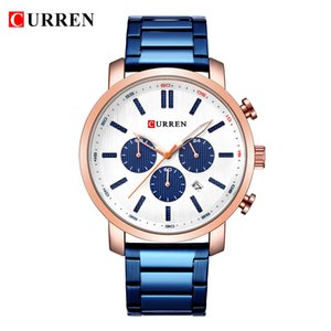 Wholesale CURREN Fashion Chronograph Sport Mens Watches Top Brand Luxury Quartz Watch Reloj Hombre saat Clock Male hour relogio Masculino