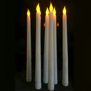 Wholesale 11 Simulation Candle LED Battery Flickering Flameless Ivory Taper Candle Lamps Stick Candle Christmas Wedding Table Room Church Decor cm