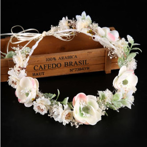 White flowers, garlands, bridal gowns, coloured dried flowers, headwear, hair bands