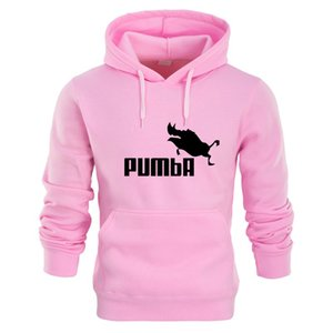 Wholesale New Funny Pumba Hoodies Men s Sweatshirt Cotton Autumn Winter Men Sportswear Male Thick Pullover Casual Coats M XXL