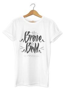 Wholesale The Brave Bold Printed T Shirt Urban Streetwear Design Mens Girls Tee Top Cool Casual pride t shirt men Unisex New Fashion