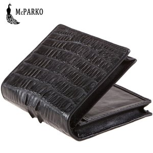 Wholesale Small Wallet Genuine Leather Crocodile Skin Luxury Short Purse Real Crocodile Wallet Men Fashion Bifold Male Gift Black