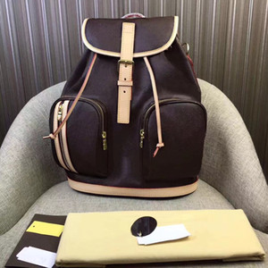 Wholesale retro rucksacks for sale - Group buy Rucksack Classic Leather Simple Fashion Backpack Retro Bag Storage Ladies Neutral School Computer Travel Men Jledr