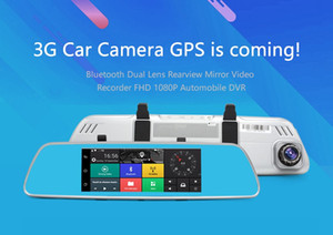 Car DVR,7 inch Capacitive Android car GPS Navigator Quad Core 8GB car DVR kuajieshi cam dual cameras 1080P record free maps on Sale