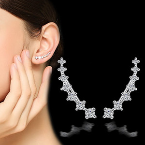 Wholesale ear claws resale online - Korea Personality Fashion Tremella Ornaments Four Claw Seven Star Zircon Student Accessories French Ear Clip Woman