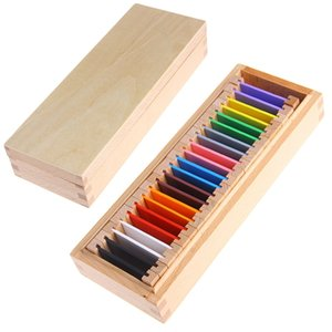 Wholesale 2017 Montessori Sensorial Material Learning Color Tablet Box Wood Preschool Toy MAY2_35