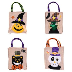 Wholesale Christmas Halloween Large Size cm Gift Bags Halloween Decoration Linen Pumpkin Tote Shopping Mall Hotel Cookies Apple Gift Bag