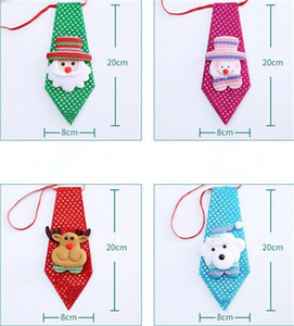Wholesale New Festive Christmas NEW YEAR Tie Party Accessories Boys Creative Christmas Bow Tie Korean Children Party Dance Decoration For Kids