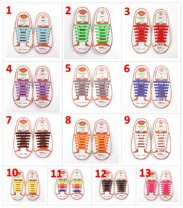 Wholesale Unisex Easy No Tie Shoelaces Kids Silicone Elastic Shoe Laces Kids Running Shoelaces Fit All Sneakers set