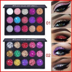 Wholesale CmaaDu Makeup Eyeshadow Palettes Color Diamond Sequins Shiny Glitter Eye Make up Styles