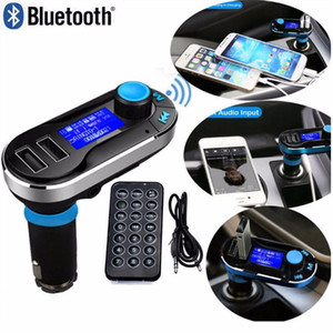 Wholesale B2016 New Bluetooth Car FM transmitter A Dual USB Car Charger BT66 MP3 Player Car Kit For Mobile Phone