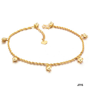 Wholesale Wedding bride girl anklet foot chain Stylish and refined Heart shaped bell Gold color No fade Women s anklet foot chain Holiday gift