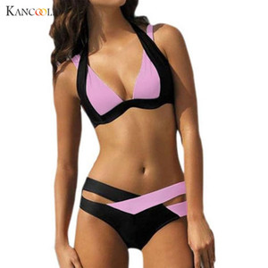 Wholesale New PC Sexy Swimwear Womens Swimsuit High Waisted Bathing Suits Halter Push Up Set Maillot De Bain S XL Bra Brief Sets MA23
