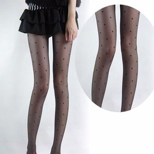 Wholesale New Fashion Tight Women Sexy Design Lovely Super Slim Lady Heart Pattern Pantyhose Girl Solid Color Black A1
