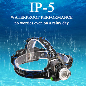 XML T6 1000Lumens Induction LED Headlamp Zoomable Headlight Waterproof Rechargeable 18650 Battery Head lamp Fishing Hunting Light