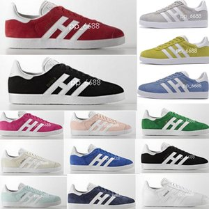 2018 Gazelle Men Women Top Quality Gazelle shoes Racer Black white shoes Red Grey Orange Casual lovers Shoes 36-44 on Sale