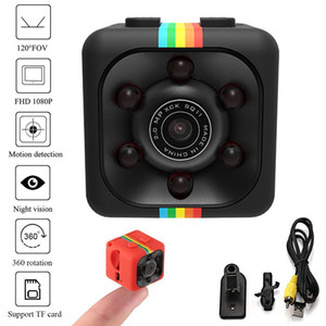 Wholesale SQ11 Mini Camera P HD Camcorder with Night Vision Sport Outdoor DV Voice Video Recorder Action Camera Support TF Card car DVR